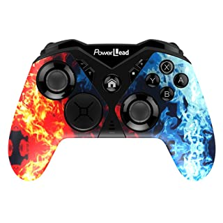 Pro Controller for Switch, PowerLead Wireless Gaming Controller Six-axis Dual Vibration Gamepad for Switch/PC Compatible with Andriod Phone/Tablet/Smart TV