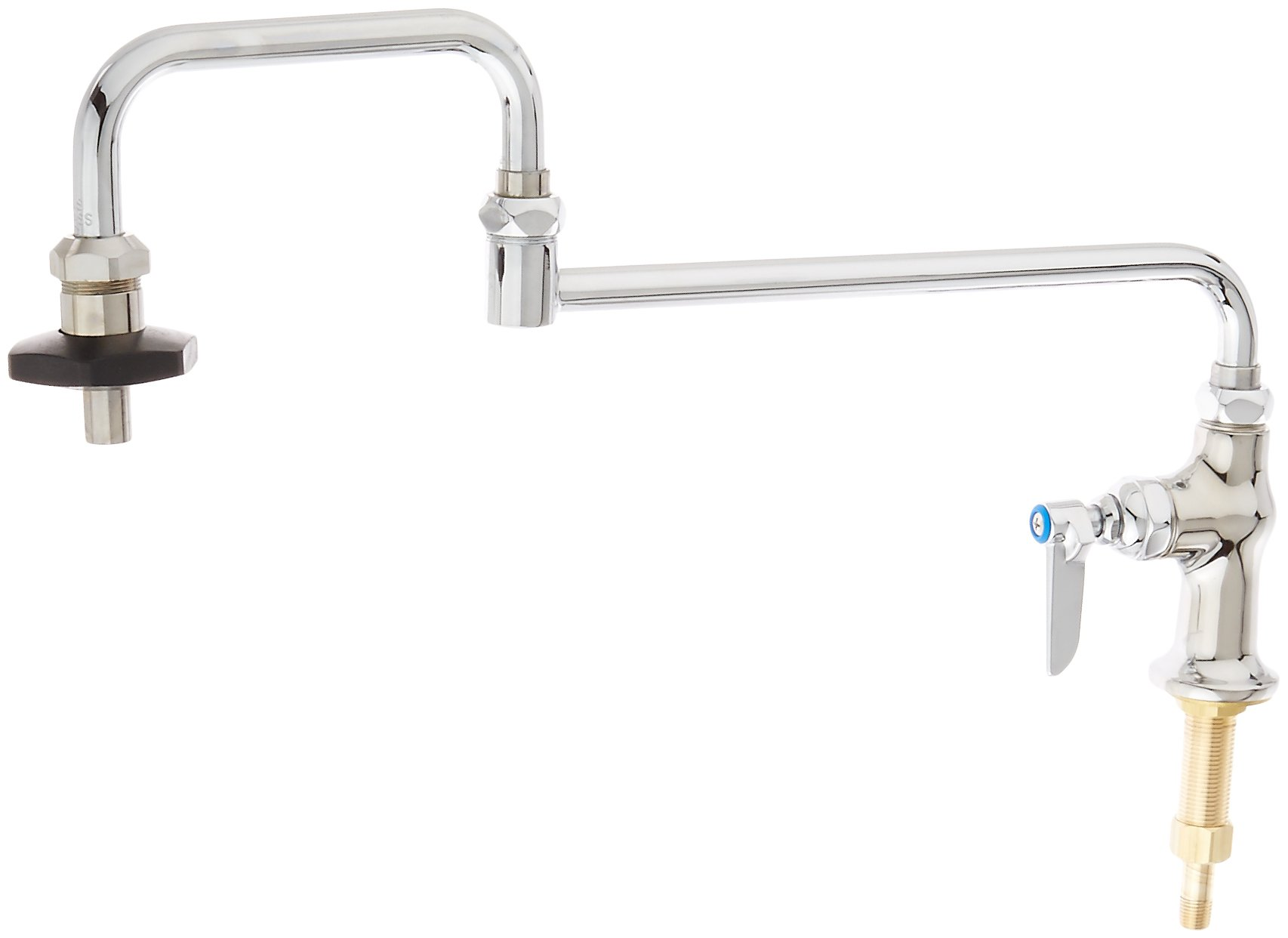 T&S Brass B-0590 Deck Mount Single Control 18-Inch Double Joint Nozzle Insulated Pot Filler with On-Off Control