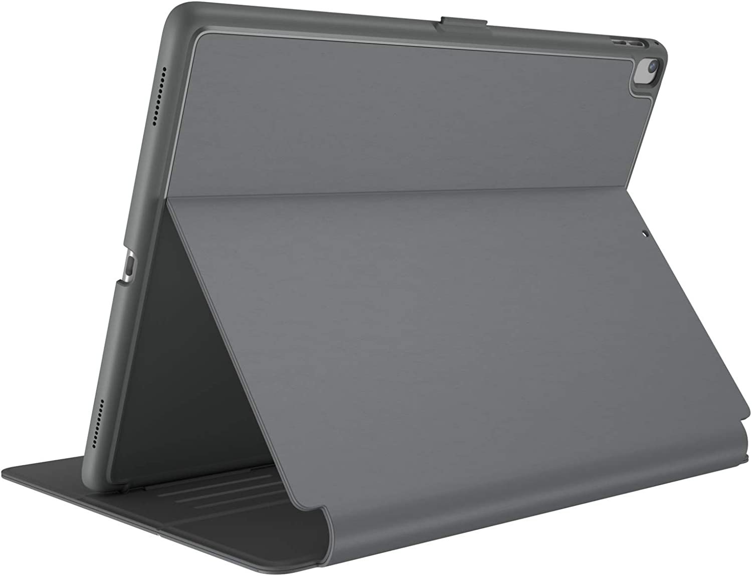 """Speck Products Compatible Case for Apple iPad 9.7"""" (2017/2018, also fits 9.7"""" iPad Pro/Air 2/Air), Balance FOLIO Case/Stand, Stormy Grey/Charcoal Grey"""