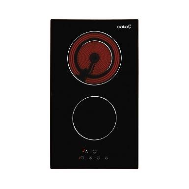Cata vitroceramica | Modelo TD 302 | Placa con 2 Zonas De Cocción | 30 cm de Ancho | 9 Niveles de Potencia Regulables | Control táctil |, 1200 W, ...