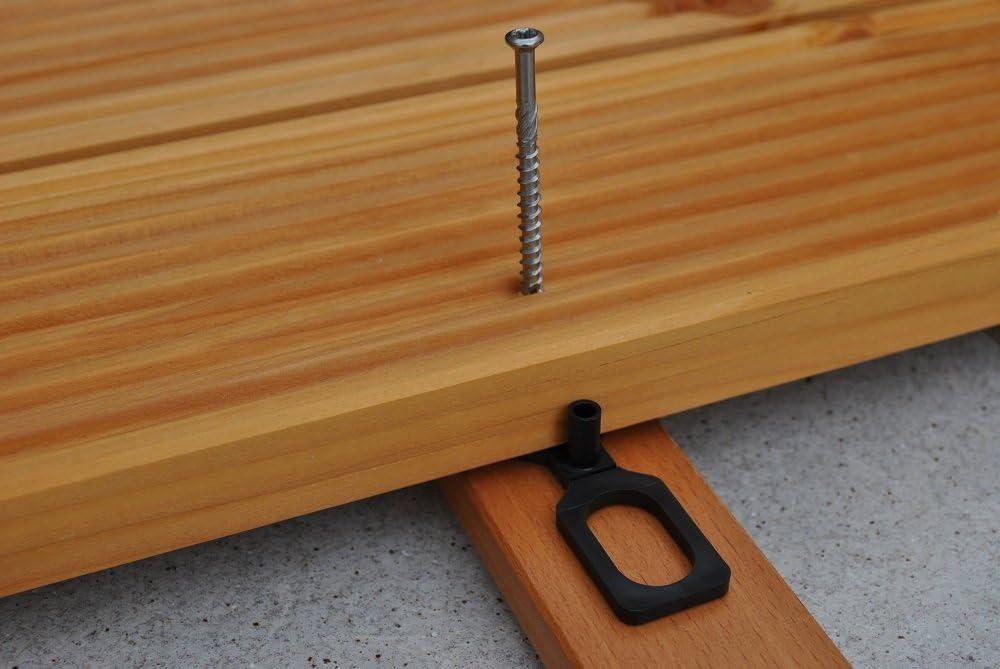 Terrassenschrauben 5 x 60 mm - rostfrei Edelstahl C1 - TX-25 mit CUT-Spitze und Schneidkerbe 1.4006 100 St/ück Eisenwaren2000 geh/ärtet