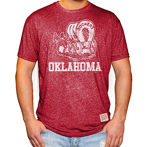 Elite Fan Shop Oklahoma Sooners Retro Tshirt Crimson - XL