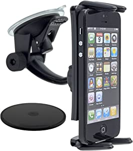 Arkon Windshield Dash Phone Car Mount for iPhone XS Max XS XR X 8 Galaxy S10 S9 Note 9 iPad mini Retail Black