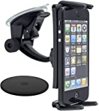 Arkon SM614 Slim-Grip Ultra Windshield or Dashboard Car Mount for Apple iPhone 6S Plus, 6 Plus, iPhone 6S, 6, 5S, 5C, Samsung Galaxy Note 5, 4, 3, Galaxy S6, S5, S4, LG G4, G3, HTC One M9, One M8