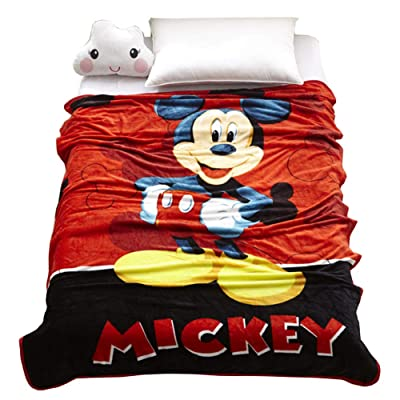 "HOLY HOME Children's Flannel Fleece Blanket Throw Anime Figures 60""x80"" Big Mouth Mickey: Home & Kitchen"