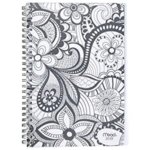 "Mead Weekly / Monthly Planner, January 2018 - December 2018, 5-1/2"" x 8-1/2"", Zendoodle, Design Will Vary (CRW41710)"