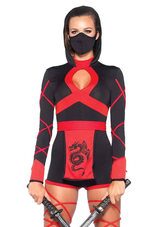 Leg Avenue- Mujer, Color negro y rojo, Small (EUR34-36 ...
