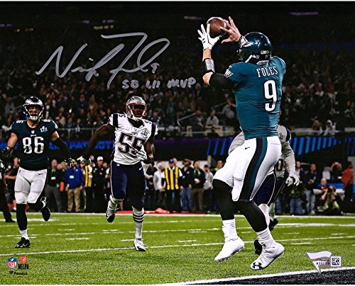 "Nick Foles Philadelphia Eagles Super Bowl LII Champions Autographed 8"" x 10"" Philly Special Touchdown Catch..."