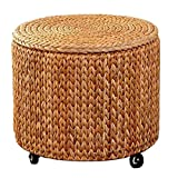 Chair Mats Seat Cushion it can Move Storage Stool You can Choose Whether The Stool Moves According to Your preferences Storage Box Circular Sofa Stool Shoe Bench Furniture Accessories