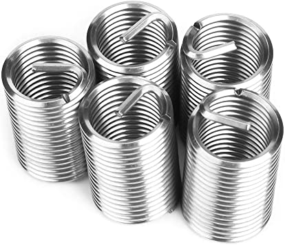 Insertos de rosca helicoidal de tornillo helicoidal de alambre de acero inoxidable 50pcs M4 x 2D Kit de reparaci/ón de rosca