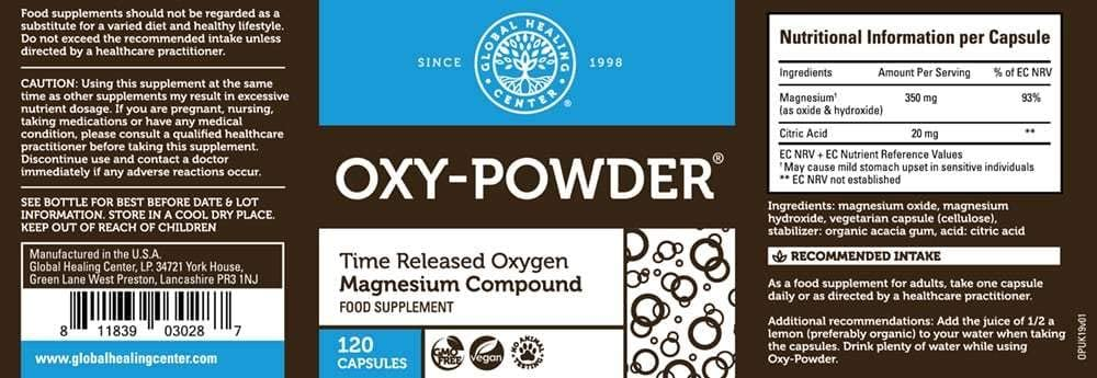 Global Healing Center Oxy-Powder Magnesium Compound 120 capsules