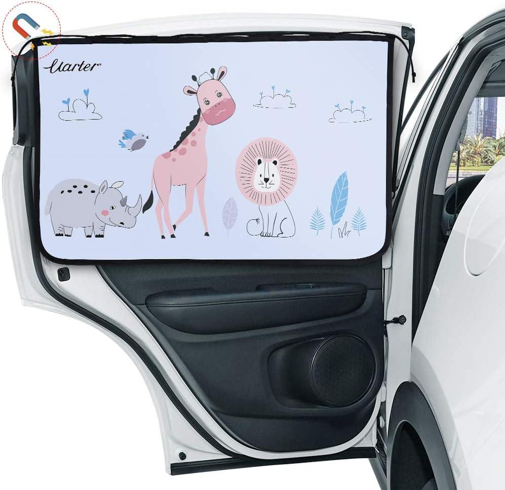 Uarter Auto Sonnenschutz Kinder Sonnenblende Auto Mit Uv Schutz Sonnenschutzrollo Auto Für Seitenfenster Meshmaterial Schützt Mitfahrer Baby Kinder Haustiere Auto