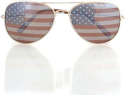 Americana bandera de Estados Unidos Aviator Gafas de sol ...