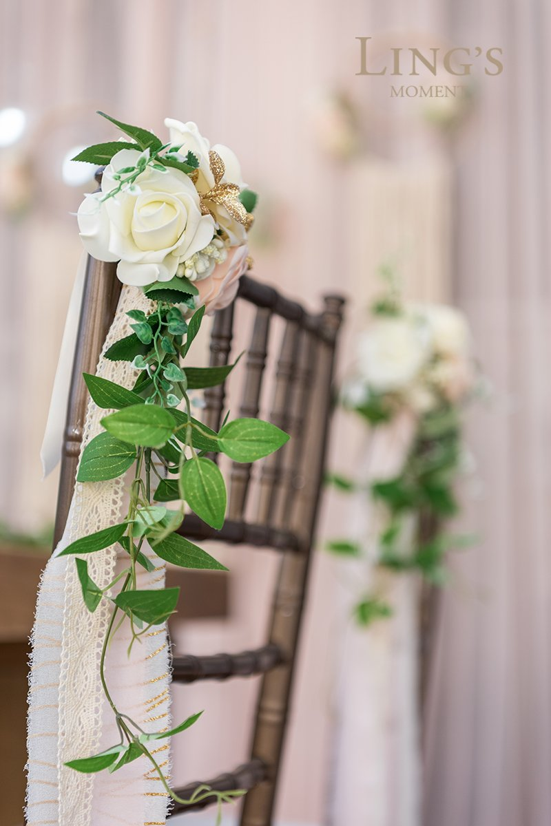 Lings-moment-Wedding-Aisle-Decorations-Flowers-for-Chairs-Set-of-8-Cream-Blush-Pew-Flowers-with-Drapes
