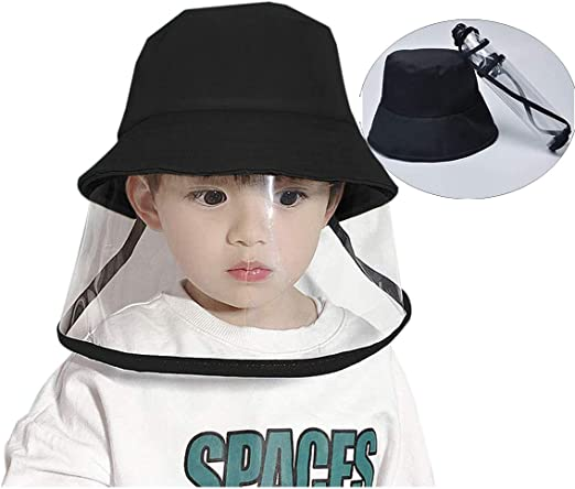 Anti Spitting Anti-UV Protective Fisherman Hat with Full Face Protection Shield Anti Fog Waterproof QXQTER Kids Face Shield Hat Detachable Reusable Visor Face Shield Hat