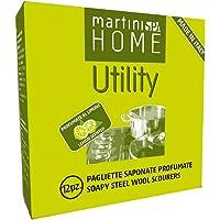 Martini SPA användbarhet stål ull tvålad dynor och spiralskur, flerfärgad, en