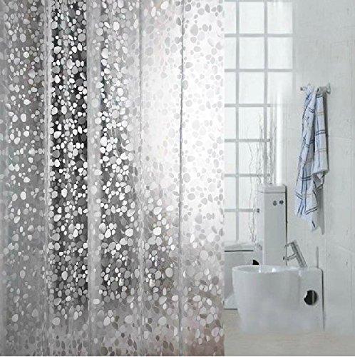 Eforcurtain Standard 72x72 Cobblestone Waterproof Shower Curtain PVC Semi Transparent Bath And No More Mildew Vinyl
