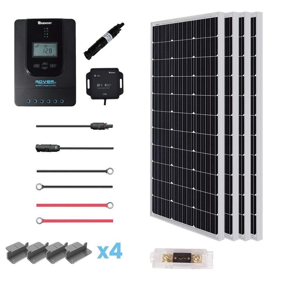 Renogy 12 Volt Solar Premium Kit 100D 400W-40A RVR