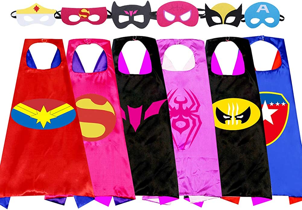 Kids Cartoon Superhero Capes
