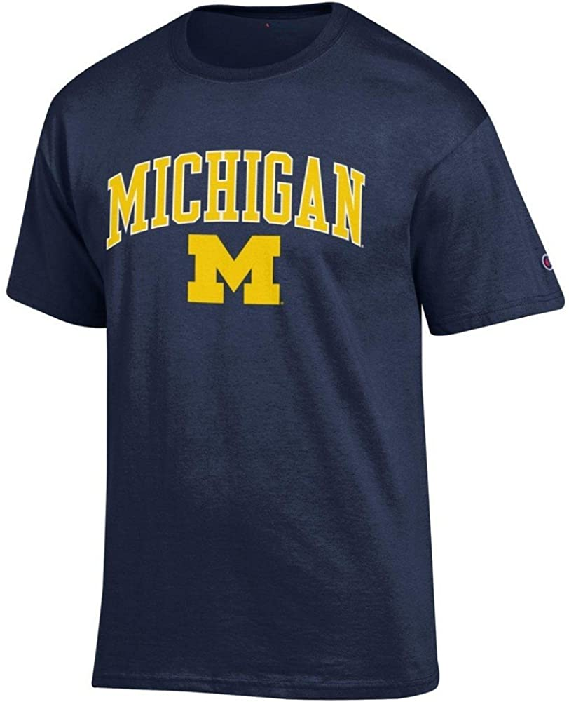 Elite Fan Shop Michigan Wolverines Tshirt Varsity Navy - X-Large - Navy Yellow