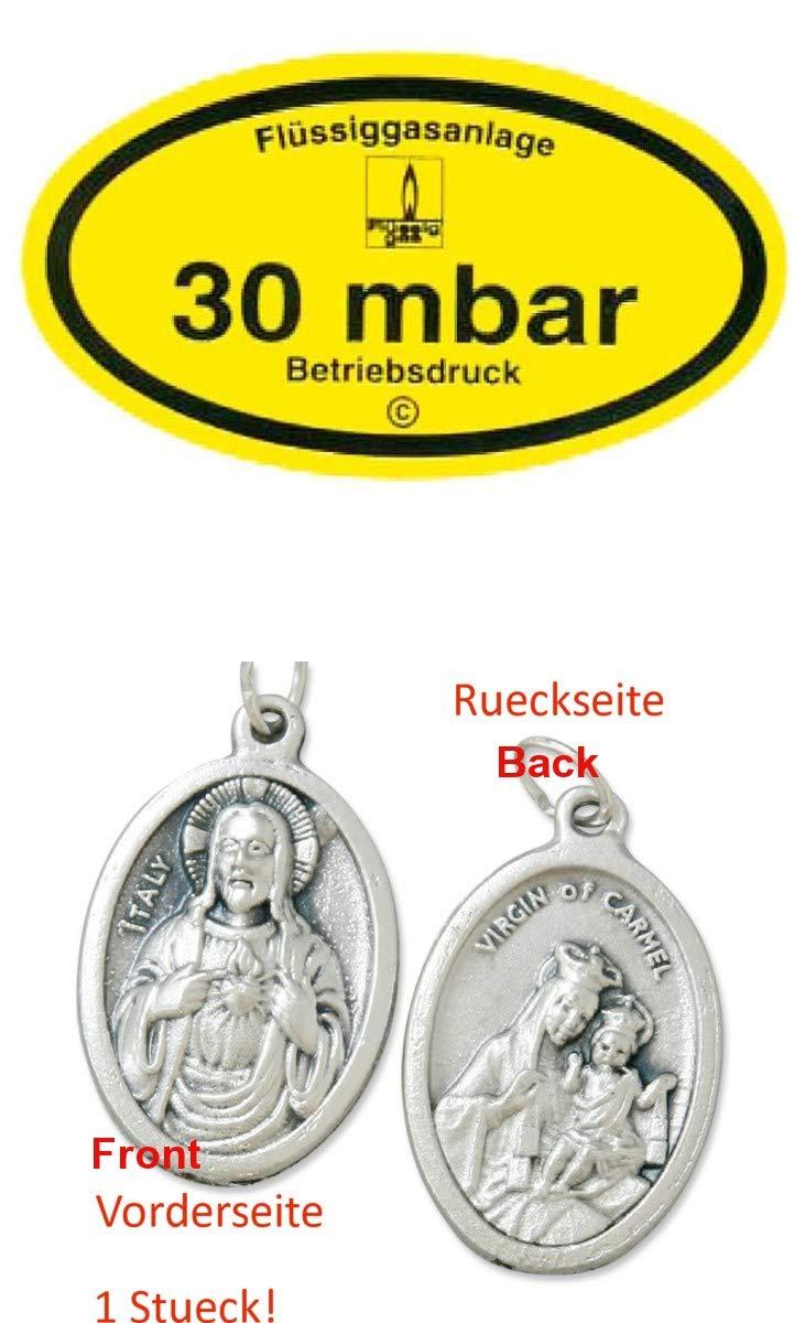 Schraubkanal 932988901171 mit Anh/änger Herz Jesu 2,5cm Zisa-Kombi Kederschiene Alu 2,5m