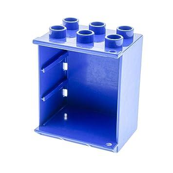 Bausteine Gebraucht 1 X Lego Duplo Möbel Kühlschrank Gehäuse Blau EIS  Schrank Puppenhaus Küche 4914