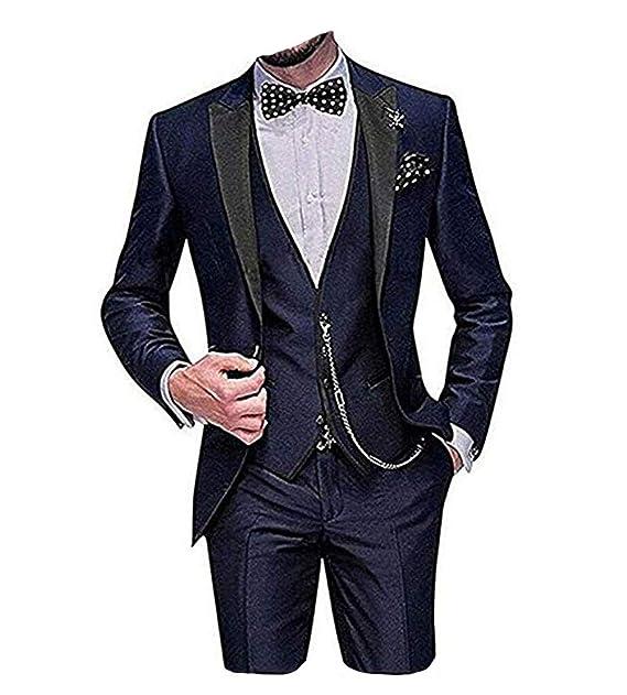 Amazon.com: LYXP - Trajes de boda para hombre con un botón ...