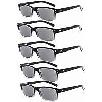Eyekepper Mens Vintage Eyeglasses-5 Pack,All Grey Lens +0.00