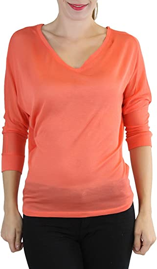 ToBeInStyle Womens Long Sleeve V-Neck T-Shirt