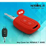 Keyzone Silicone Key Cover For Renault Kwid / Duster 2016 Onwards Remote Key (Red) (1)