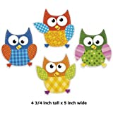"48 ~ Owl Bulletin Board Cutouts ~ approx. 4 3/4"" x 5"" ~ lightweight cardboard ~ New"