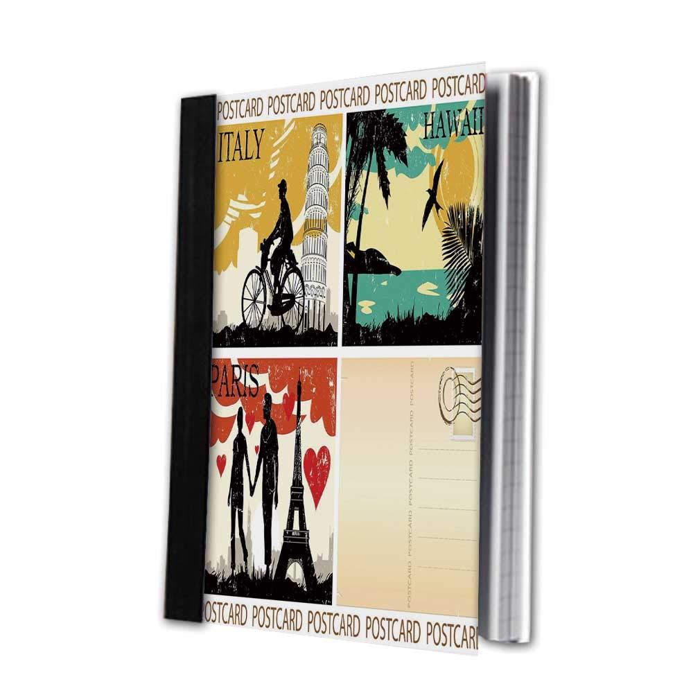Amazon com : Retro Stylish Notebook, Abstract Parquet