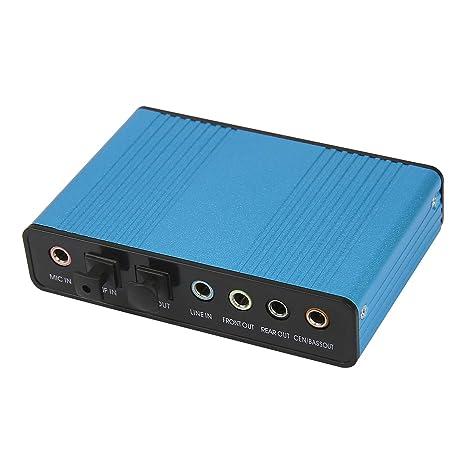 Amazon.com: HDE – Adaptador de tarjeta de sonido externa 6 ...