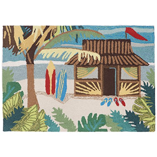Liora Manne FT123A94044 Whimsy Hut Hawaii Rug, Indoor/Outdoor, 24'' x 36'', Multicolor by Liora Manne