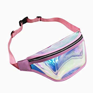 f5af416246a8 RARITY-US Neon Holographic Fanny Pack for Women Men Unisex ...