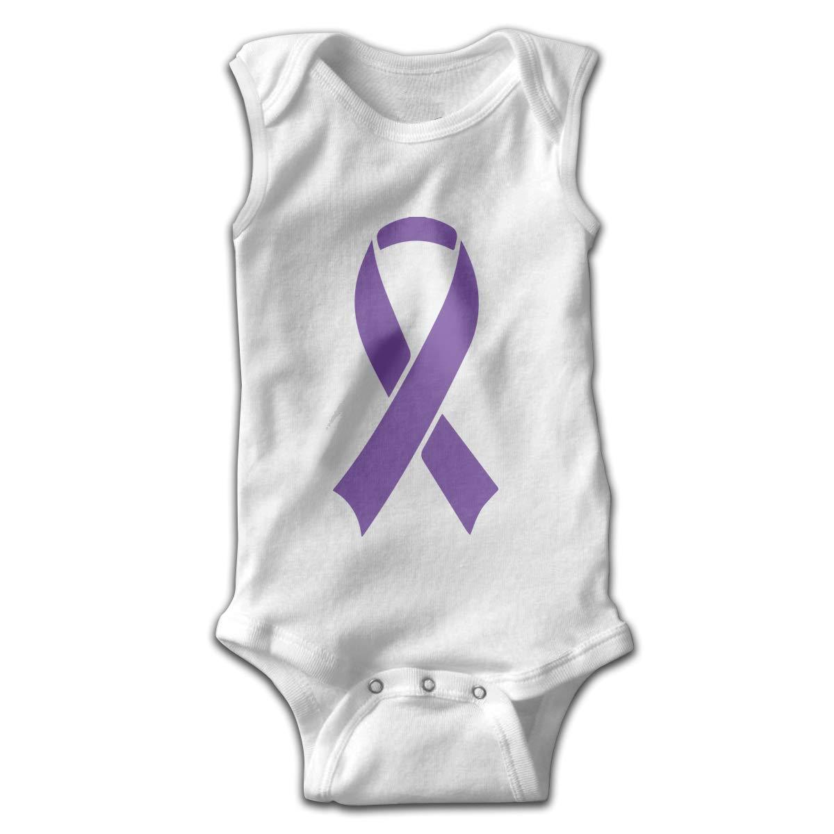 H@PAPA01 Pancreatic Cancer Awareness Ribbon Toddler Sleeveless Romper Jumpsuit