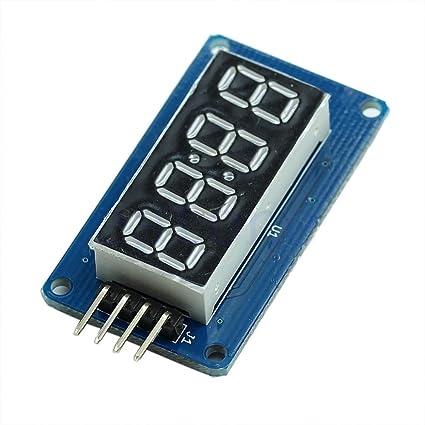 Amazon com: 2 x 4 Bits TM1637 Digital Tube LED Clock Display