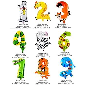 Bigtruck 16 Geburtstag Alter Zahlen Tiere Luftballons Zoo Tier Luftballons Kit Für Dschungel Safari Tiere Theme Geburtstagsparty Dekorationen Kinder