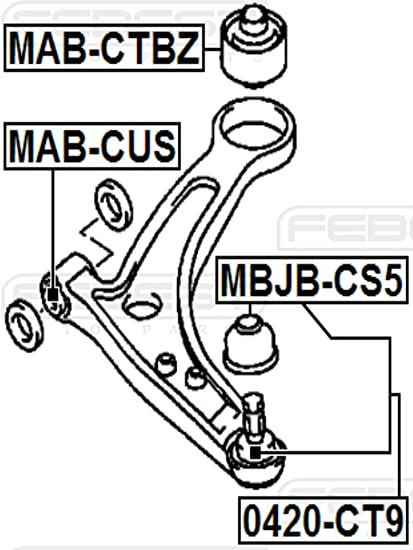 FRONT ARM BUSHING FRONT ARM Febest # MAB-105-1 Year Warranty