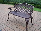 Best Oakland Living Ab Benches - Oakland Living Rose Loveseat, Antique Pewter Review
