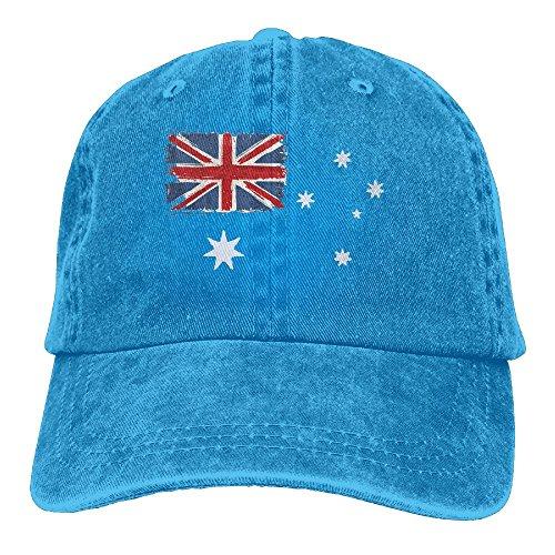 TeeStars - Australian Flag - Vintage Style Retro Australia Flag Unisex Flat Bill Hip Hop Cap Baseball Hat Head-Wear Cotton Snapback Hats Royalblue