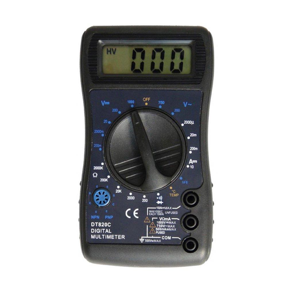 OLSUS DT820C LCD Handheld Digital Multimeter, Using for Home and Car - Black