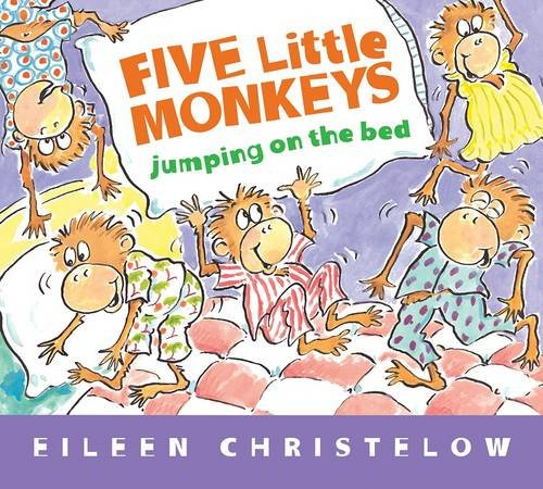 Five Little Monkeys Jumping on the Bed (Padded Board Book) (A Five Little Monkeys Story)