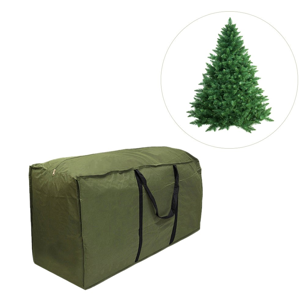Sundlight Christmas Storage Bag, Army Green Christmas Tree Bag,Waterproof Polyester Fabric Outdoor Furniture Cushion Storage Bag with Zipper