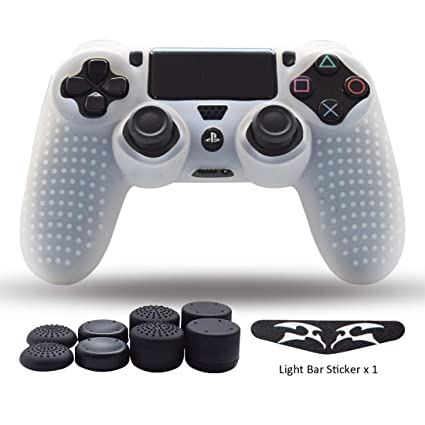 Ps4 Controller Skin Silicone Grips For Playstation 4 Ps4 Slim Pro Controller Anti Slip Cover Case Protector For Dual Shock 4 Controller One Light Bar
