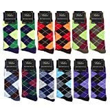 Falari Men Cotton Dress Socks, 12-pack (Diamond Shaped)., One Size