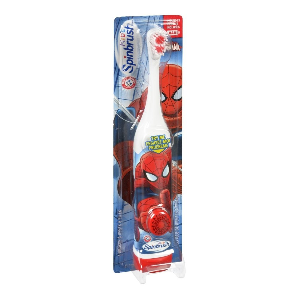 Amazon.com: ARM & HAMMER Kids Spinbrush Spiderman 1 Each Pack of 5(Design May Vary): Baby