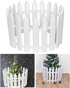 JETTINGBUY Fairy Picket Fence,White Plastic Miniature Fairy Garden Fence for Christmas Xmas Tree Fairy Garden Ornaments(30 Packs)