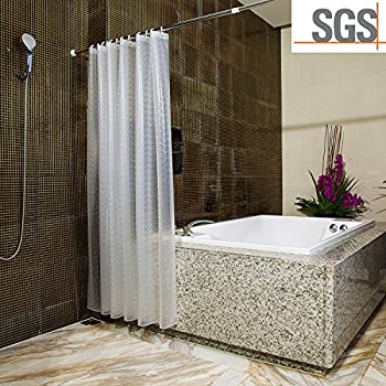 Amazon.com: Uforme Sea Star Theme Pattern Shower Curtain Liner ...