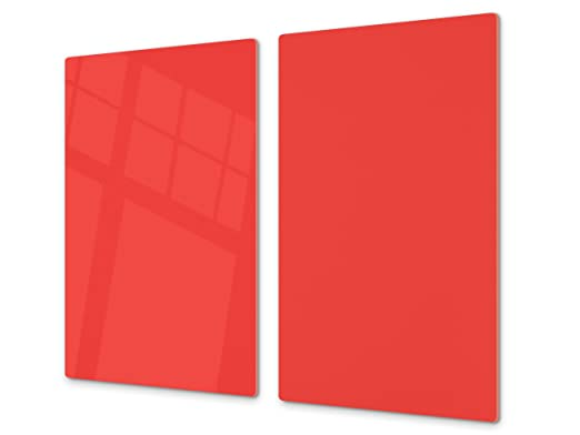Cubre vitrocerámica y tabla de cortar de cristal templado – Superficie de vidrio templado resistente – UNA PIEZA (60 x 52 cm) o DOS PIEZAS (30 x 52 ...